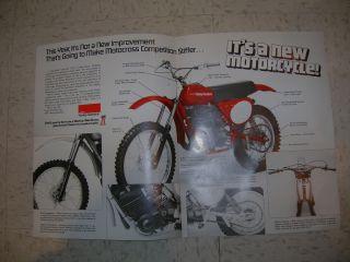 Harley Davidson MX 250 Racing Motorcycle Fold Out