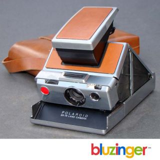 Vintage Polaroid SX 70 Land Camera w Tan Leather Case