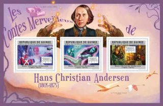 Guinea Hans Christian Andersen 3 Stamp Mint Sheet 7B 1688