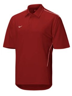 Nike Fit Dry Mens Game Day Polo Shirt Maroon (Cardinal) & White