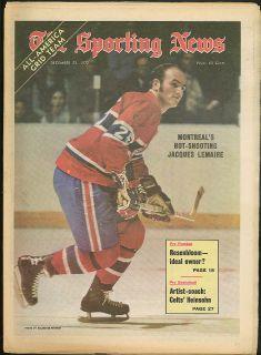 Jacques Lemaire Heinsohn Rams Rosenbloom Sporting News 12 23 1972