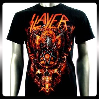 Slayer Heavy Metal Rock Punk Band Music T Shirt Sz XL SLA17