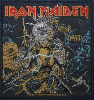 Iron Maiden Live After Death Heavy Metal Music Patch