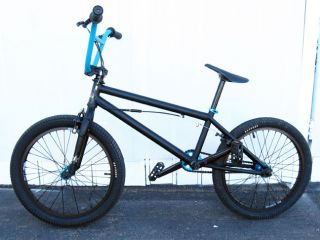 Haro Rockstar Flat Black and Turquoise BMX Bike Nice