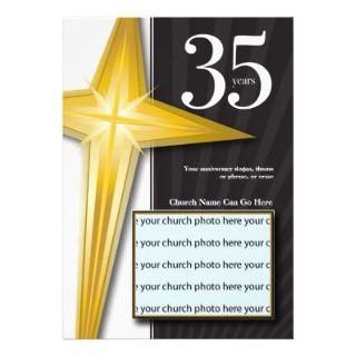Customizable 35 Year Church Anniversary Announcement