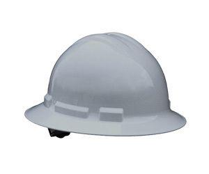 Hard Hat Quartz Full Brim 4 Point Ratchet Suspension Gray
