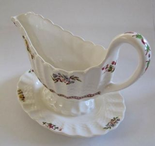 Gravy Boat Spode Copeland Rosalie with Attached Underplate England
