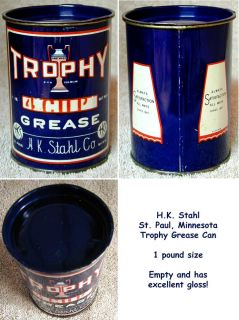 Co St Paul Minnesota 1 Pound Trophy Grease Can – Great Gloss