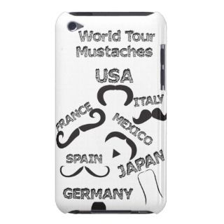 Funny Mustaches World Tour hipster mustache styles iPod Touch Cover