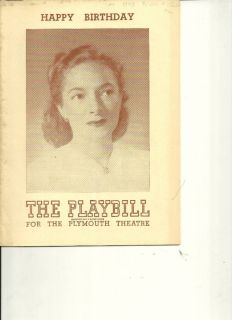 1948 Playbill Happy Birthday Helen Hayes