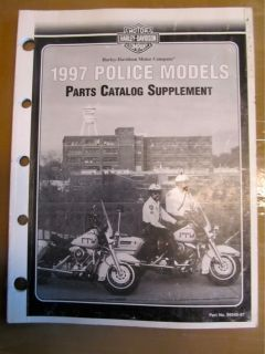1997 Harley Davidson Police Models Parts Catalog Supplement