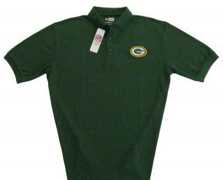 Green Bay Packers NFL Team Apparel Classic Logo Green Golf Polo Shirt