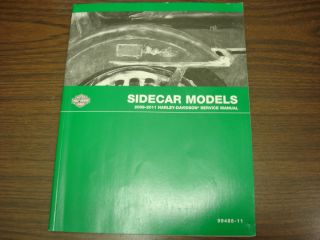 Harley Davidson Sidecar Model Service Manual 2008 2011 99485 11