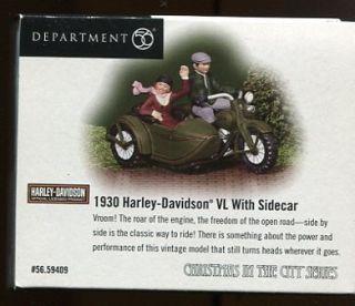 Department 56 1930 Harley Davidson VL Sidecar Christmas in City Dept