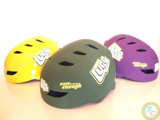 BMX MTB Cycling Bicycle Skateboard Sports Helmet Green Yellow Purple