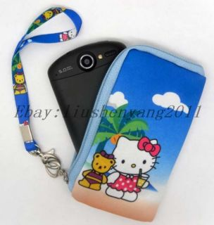 Hello kitty Multi Purpose Mobile Cell Phone Bag Nylon Case Pouch purse