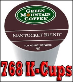 Green Mountain Coffee Nantucket Blend 768 K Cups for Keurig Brewers