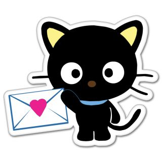 Hello Kitty Chococat Cartoon Bumper Sticker 4 x 5