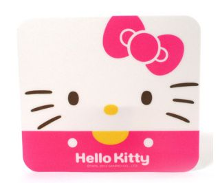 Hello Kitty Mouse Mat Mousepad Desktop Accessories Rectangle White