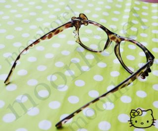 Hello Kitty Bow Style Women Girl Brown Glasses Costume Without Lens