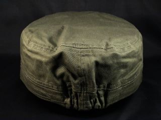 NWT Olive Cadet Castro Cap with Cross Military BDU Hat Distressed from