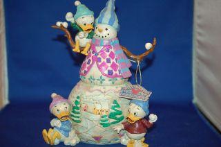 Jim Shore Disney Snowman Huey Duey and Louie 4004048