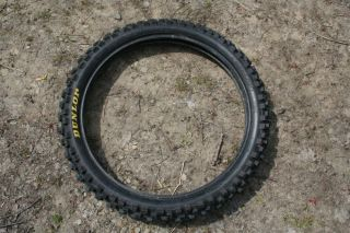 DUNLOP 80 100 21 51M GEOMAX MC715F Motorcycle Dirt Bike Front Tire Off
