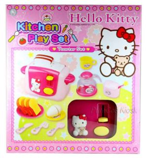 Sanrio Hello Kitty Kitchen Play Breakfast Toaster Set