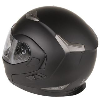 Motorcycle Snowmobile Dual Visor Modular Helmet DOT Size S, M, L, XL