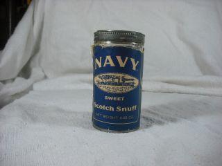 Vintage Navy Sweet Scotch Snuff Tobacco Tin 4 65 Oz