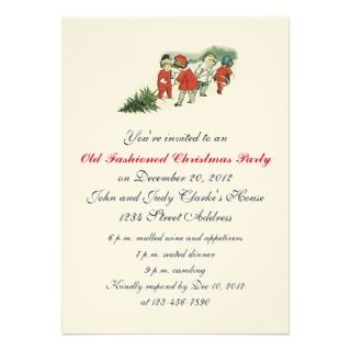 Christmas Party Invitations Cutting Tree