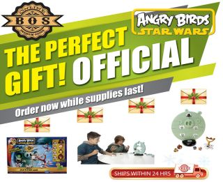 Angry Birds DEATH STAR GAME with exclusive CHEWIE figure by HASBRO NEW