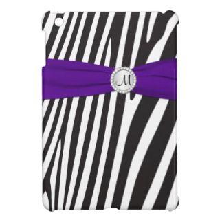 PRINTED RIBBON Purple Zebra Stripes iPad Mini Case