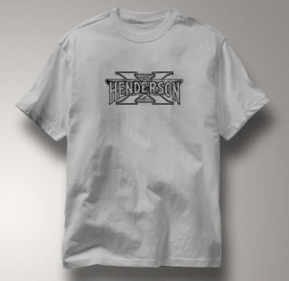 Henderson Motorcycle Excelsior Vinta T Shirt Large Gray