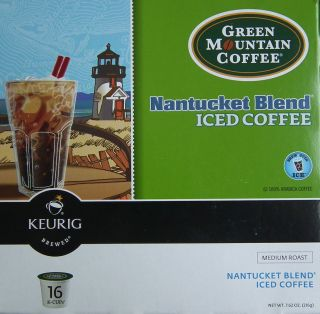 New Green Mountain Coffee Nantucket Blend Iced Coffee Flavor 48 Keurig