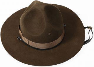 Trooper Brown Drill Sergeant Wool Felt Campaign Hat (Item #5655)