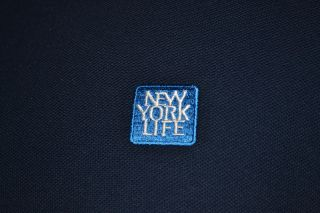 Greg Norman New York Life Blue Golf Polo Shirt Mens XL