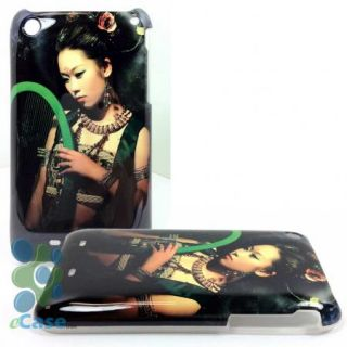 Harp Konghou Player Musician Lady Black Snap Hard Case Cover iPhone 3