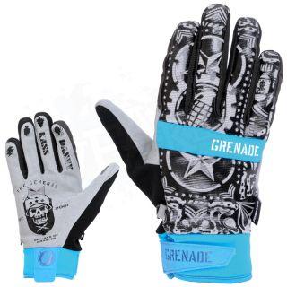 NEW 2013 Grenade Danny Kass Pro Mens Snowboard Pipe Gloves   Blue   X