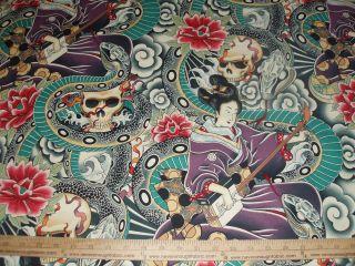 Cotton Fabric Alexander Henry Zen Charmer Asian BTY