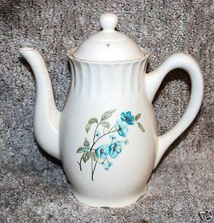 China Pottery Teapot Lid Blue Floral Motif Vintage