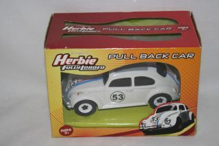 Herbie Fully Loaded Pull Back Toy VW Volkswagen Beetle Car by Planet