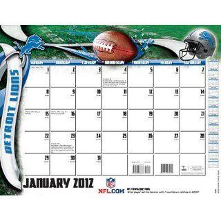 Turner Detroit Lions 2012 22x17 Desk Calendar Sports