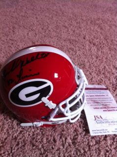 Herschel Walker Georgia Bulldogs Signed Autograph Mini Helmet 82