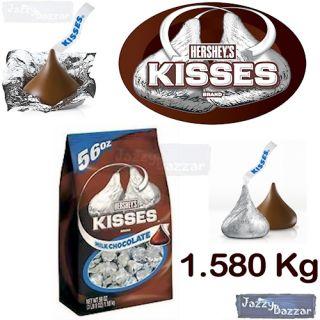Hersheys Kisses Milk Chocolate 1 58kg Bag Bulk Hersheys Kiss USA Gift