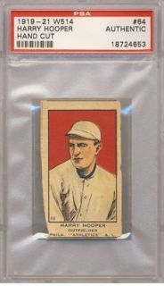 1919 21 W514 #64 Harry Hooper PSA A (Authentic) Philadelphia ATHLETICS