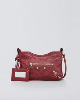 Balenciaga Giant Nickel Shoulder Bag, Pourpre/Ruby