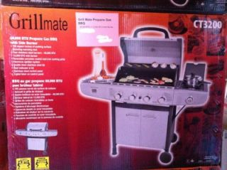 Potten Grill Mate 60 000 BTU Propane Gas Barbecue with Side Burner