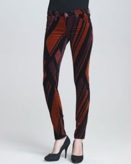 AG Adriano Goldschmied Damask Brocade Legging Jeans
