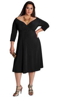 IGIGI by Yuliya Raquel Plus Size Francesca Dress in Black